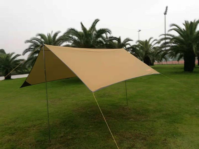 Тент походный для палаток кемпинга GreenCamp 0281 компактный практичный 2 цвета