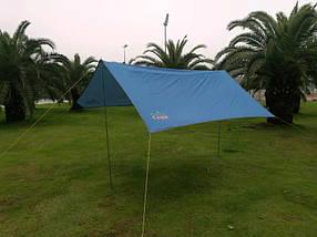 Тент походный для палаток кемпинга GreenCamp 0281 компактный практичный 2 цвета, фото 3