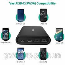 Внешний аккумулятор RavPower Power Bank 26800mAh USB-C/2xUSB Black (RP-PB067), фото 3