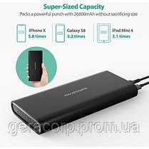Внешний аккумулятор RavPower Power Bank 26800mAh USB-C/2xUSB Black (RP-PB067), фото 2
