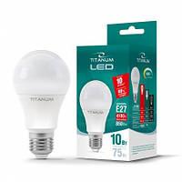 Светодиодная лампа 10w (энергосберегающая) Е27 4100 Led лампы Titanum гарантия
