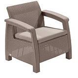 Крісло садове вуличне Keter Corfu Armchair з штучного ротанга, фото 3