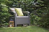 Крісло садове вуличне Keter Corfu Armchair з штучного ротанга, фото 5