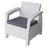 Крісло садове вуличне Keter Corfu Armchair з штучного ротанга, фото 7