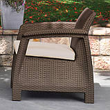 Крісло садове вуличне Keter Corfu Armchair з штучного ротанга, фото 8