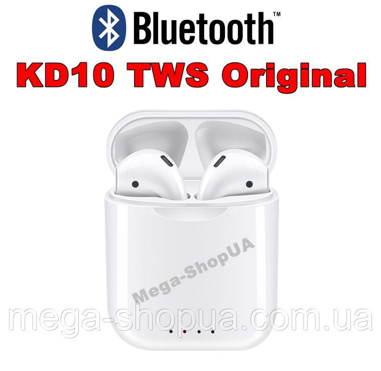 Беспроводные сенсорные Bluetooth наушники KD10 Original. Бездротові вакуумні навушники. Беспроводні наушники