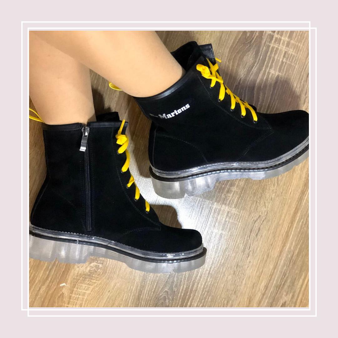 Женские зимние ботинки натуральная замша в стиле Dr. Martens (36-41)