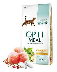 Корм Optimeal Chicken Adult Оптіміл з куркою для дорослих кішок 10 кг