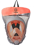 Маска для сноркелинга детская(подводного плавания) Subea Easybreath X/S оранжевая, фото 3