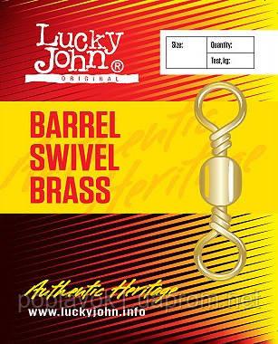 Вертлюг LUCKY JOHN Barrel Swivel Brass (022 / *10)