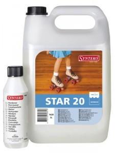 Лак паркетный двухкомпонентный SYNTEKO STAR 20 (Синтеко Стар - матовый) 5л