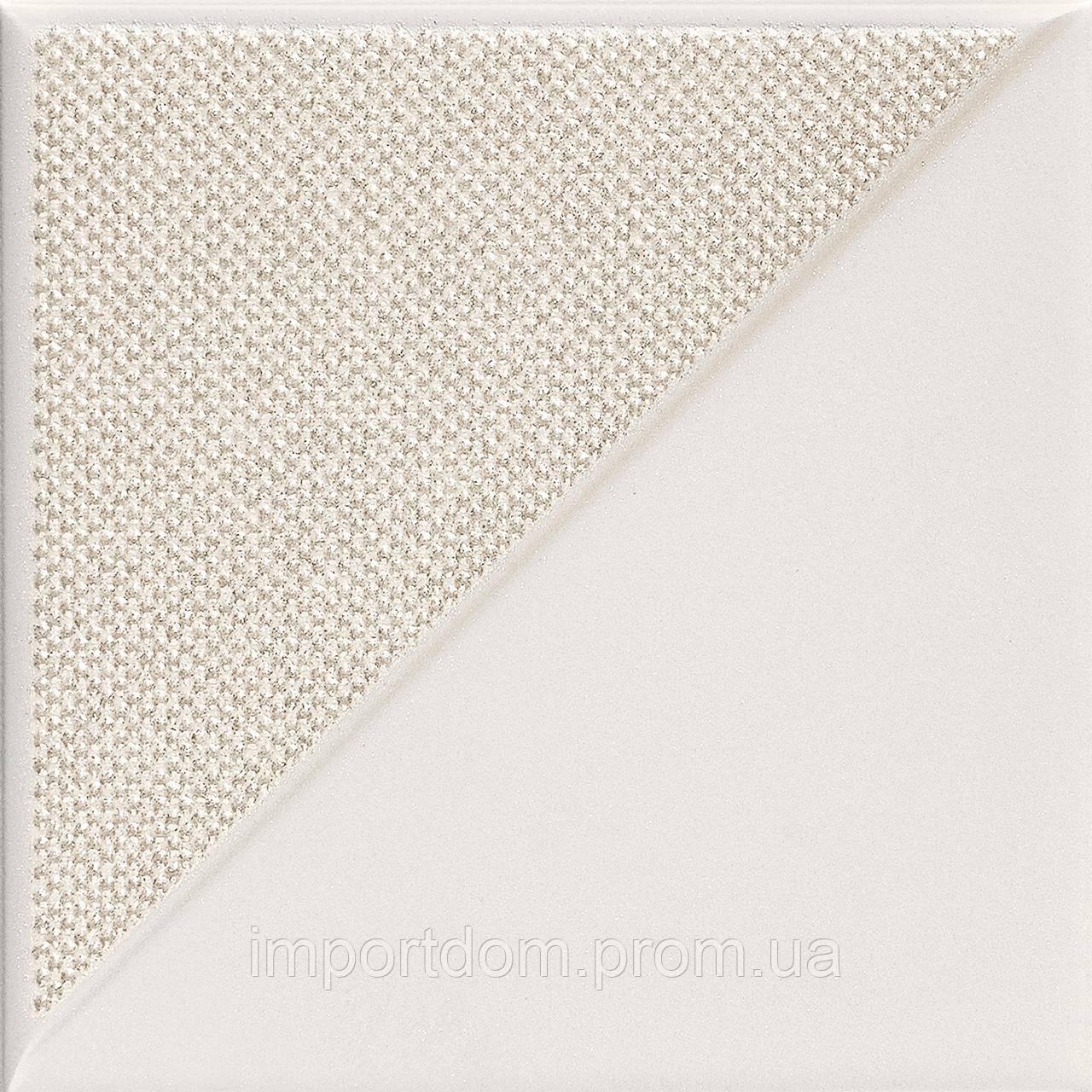 Плитка для пола и стен декор Tubadzin Reflection White 2 148х148х12.8