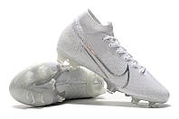 Футбольные бутсы Nike Mercurial Superfly VII Elite FG White/White, фото 1
