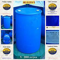0410/1: Бочка (200 л.) б/у пластиковая ✦ Протеол, фото 1
