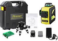 Лазерный уровень Firecore F93T XG в кейсе 3D с зелёными лучами
