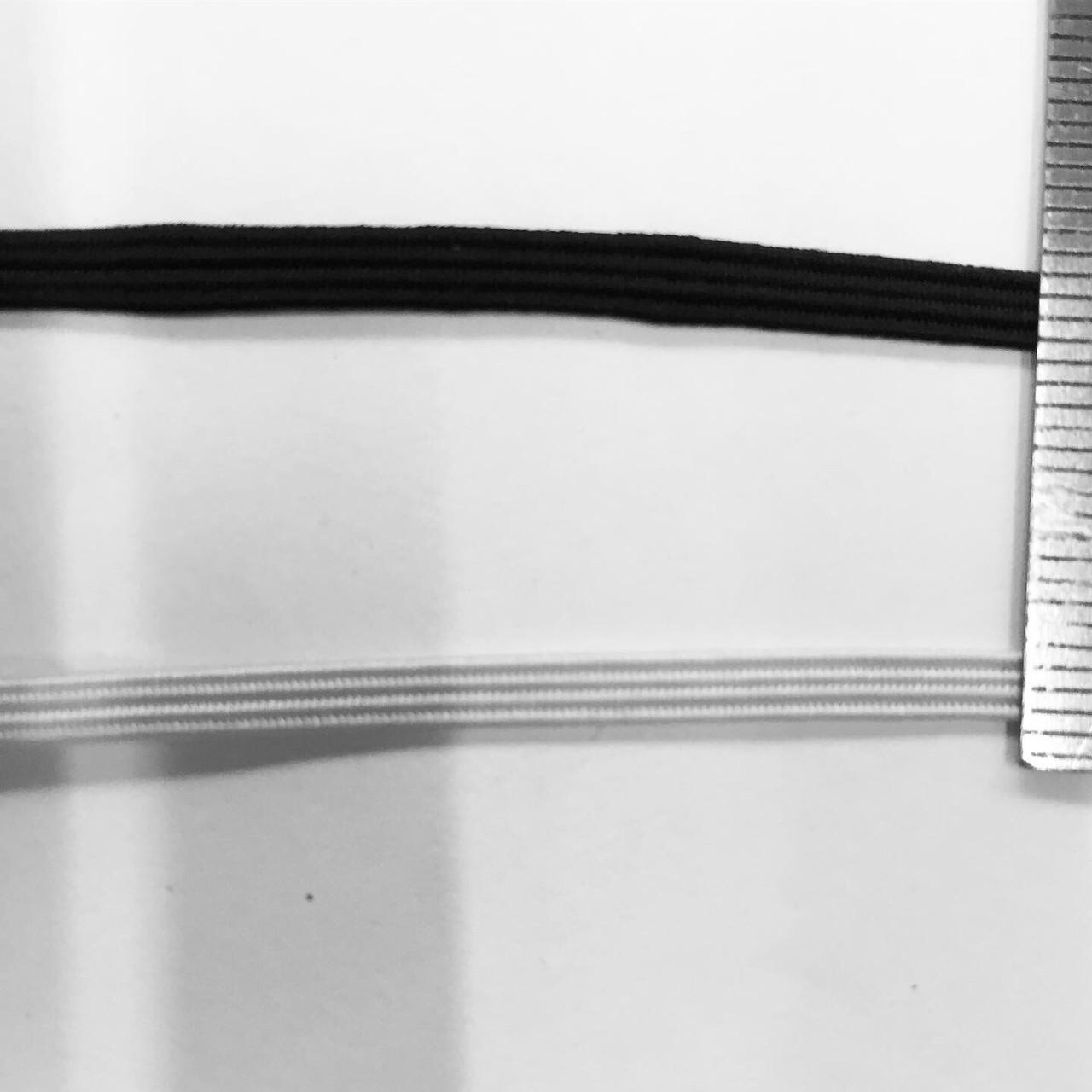 Резинка 3 мм белая 133 м
