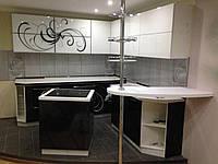 Угловая кухня с барной, фото 1
