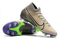 Футбольные бутсы Nike Mercurial Superfly VII Elite FG Desert Sand/Black/Psychic Purple, фото 1
