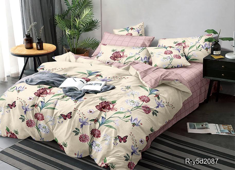 Комплект полуторного постельного белья «Райские цветы» 145х215 из ранфорса