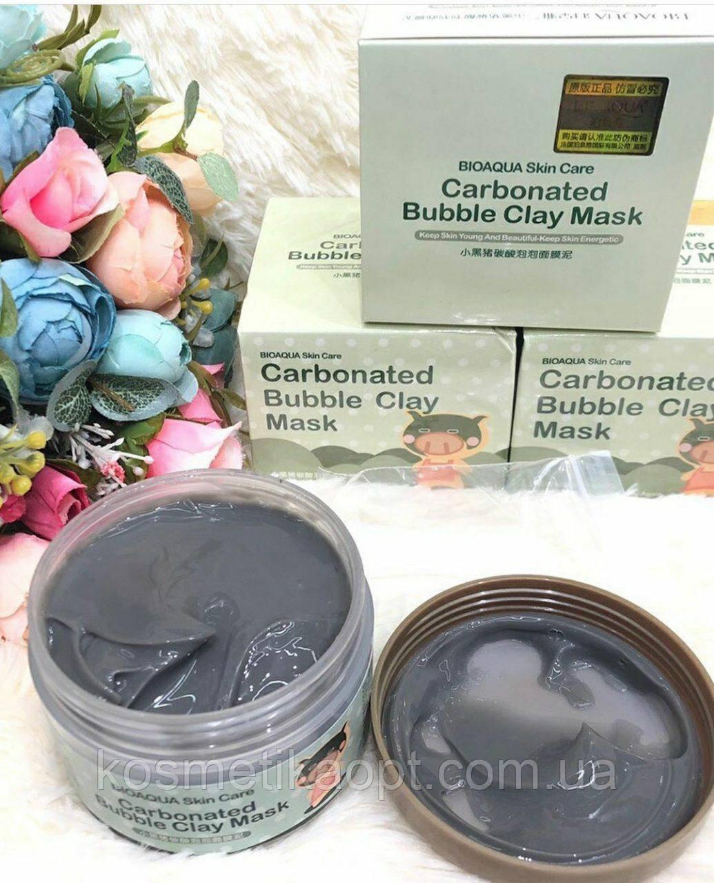 Кислородная, пузырьковая  маска Bioaqua Carbonated Bubble Clay Mask , пенная маска