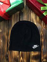 Шапка - в стиле Nike ( Чёрная с белым )