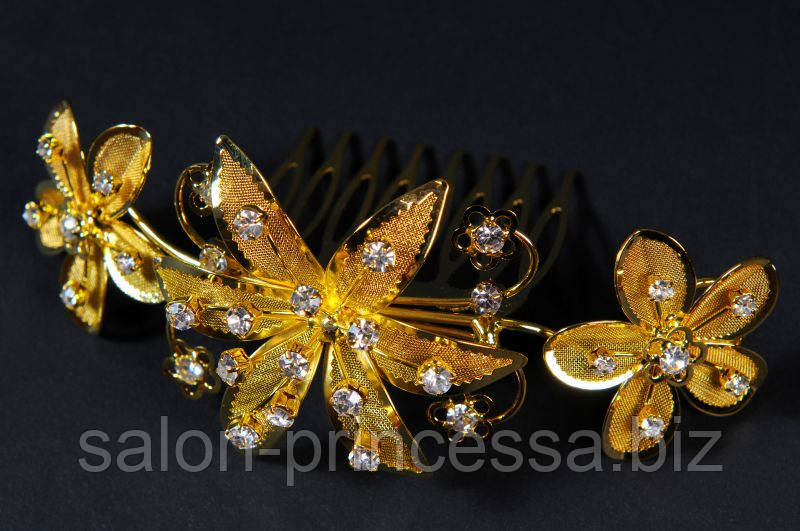 f73b017e6f95 Свадебный гребень под золото (Гр-49) - Свадебный салон