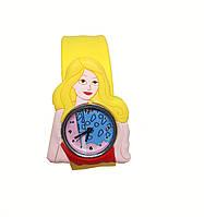 """Часы - защелка  детские кварцевые """"Принцесса"""" желтый"""