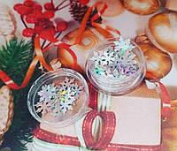 Новорічний декор (Голографічні сніжинки)