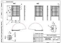 Калитки для панельных ограждений 1500х1000мм цинк+полимер