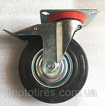 Колесо 125/375-50 мм с поворотным кронштейном и тормозом