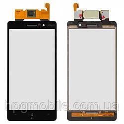 Сенсорный экран для Nokia Lumia 830, черный, оригинал