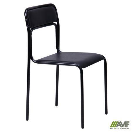 Офісний стілець Ascona чорний/кожзам AMF