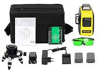 Лазерный уровень Firecore F93T XG с двумя аккумуляторами супермаксимальная комплектация с зелёными лучами 3D, фото 1