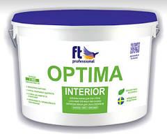 Глубокоматовая латексная краска для потолка и стен OPTIMA INTERIOR 1 л