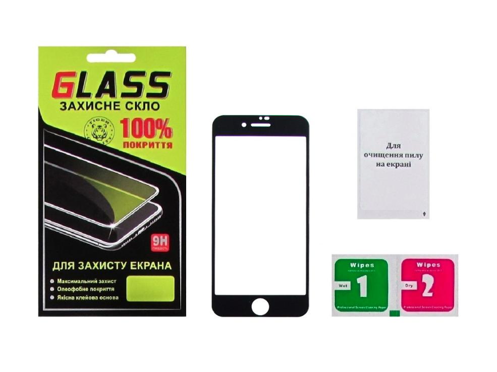 Защитное стекло для APPLE iPhone 7/8 Full Glue (0.25 мм, 2.5D, чёрное) Люкс