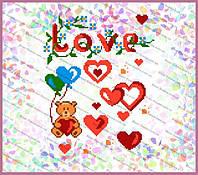 Схема на водорастворимом флизелине - Признание в любви