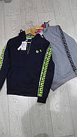 Кофты худди для мальчиков с капюшоном подростковые GRACE,разм 134-164 см,95% хлопок
