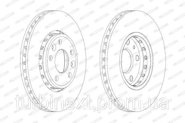 Тормозной диск передний RENAULT GRAND SCENIC III, LAGUNA III, MEGANE III FERODO DDF1726