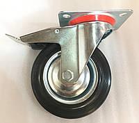 Колесо 160/40-80 мм с поворотным кронштейном и тормозом, фото 1
