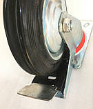 Колесо 160/40-80 мм с поворотным кронштейном и тормозом, фото 3
