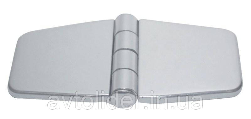 Нержавеющая петля с декоративной крышкой, 74х40х2 мм