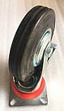 Колесо 160/40-80 мм с поворотным кронштейном и тормозом, фото 4