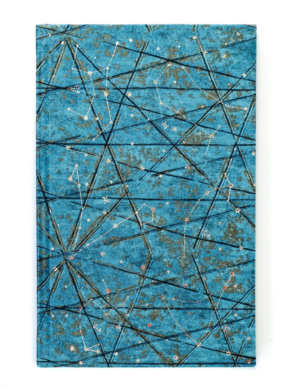 """Эко Записная книжка """"Звездное небо"""", 130х210 мм, текстурная тисненная бумага в книжном переплете"""