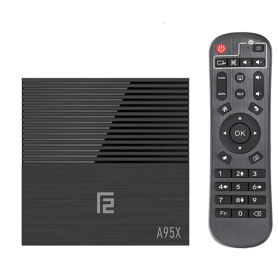 A95X F3 Android 9.0 RGB Light TV Box - Black 4GB RAM + 64GB ROM EU plug