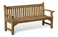 Лавочка скамья со спинкой 1840 х 670 мм. Деревянная лавка в Украине от производителя Garden park bench 12