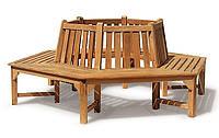 Лавочка скамья со спинкой 2200 х 430 мм от производителя Garden park bench 14