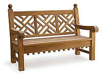 Лавочка скамья со спинкой 1500 х 500 мм. Деревянная лавка в Украине от производителя Garden park bench 16