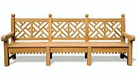 Лавочка скамья со спинкой 2750 х 500 мм от производителя Garden park bench 18