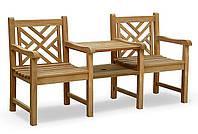 Лавочка скамья со спинкой 1740 х 650 мм от производителя Garden park bench 21