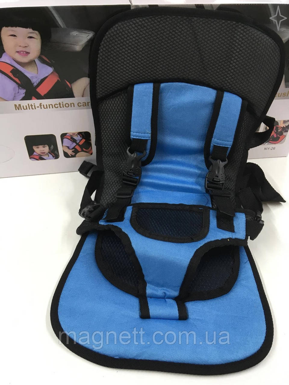 Детское бескаркасное автокресло Multi Function NY-26 (синее)